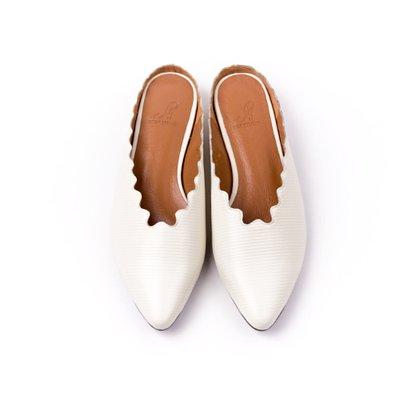 S&T STUDIO:LULU 花邊穆勒鞋(牙白)