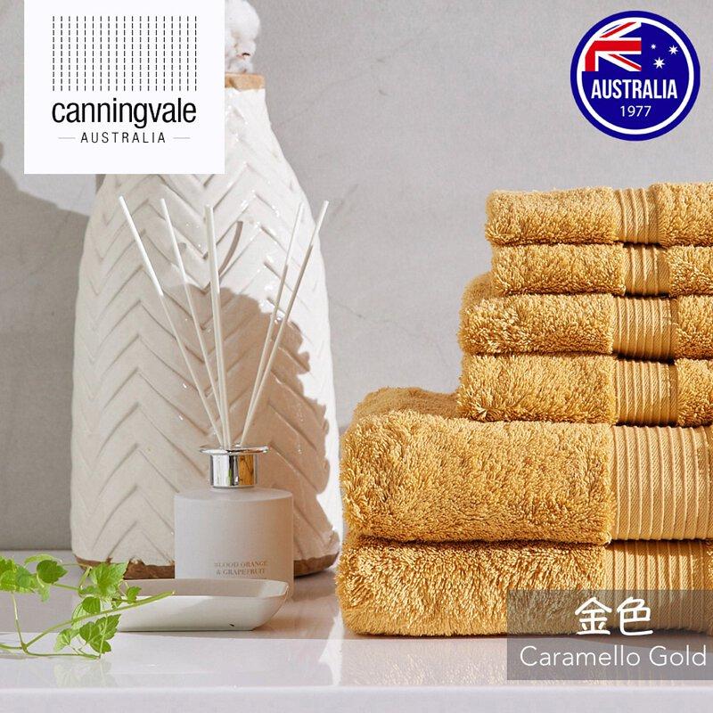Canningvale 埃及棉皇家系列毛巾6件組:金