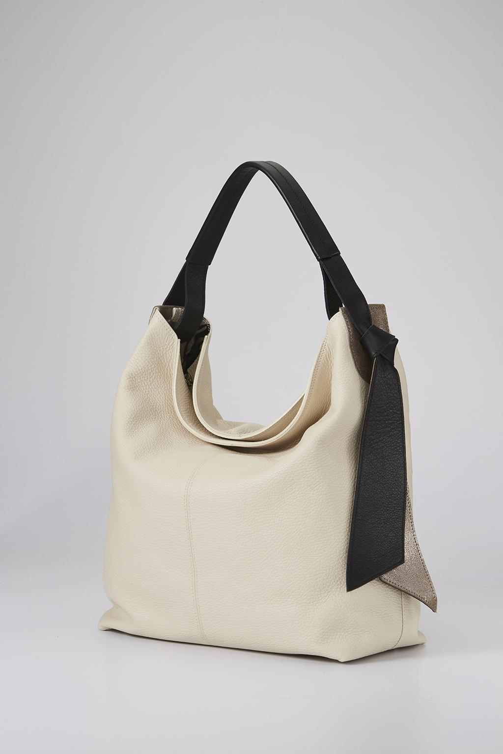 義大利女人風靡的柔軟皮革 borsalini 純色魅力HOBO包