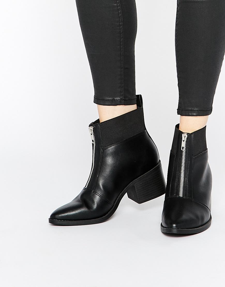 帥氣拉鍊式踝靴