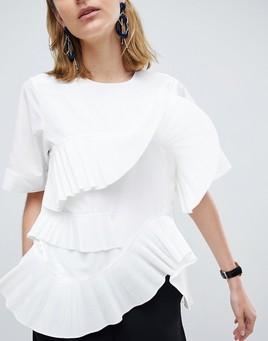 ASOS:百搭白色造型上衣