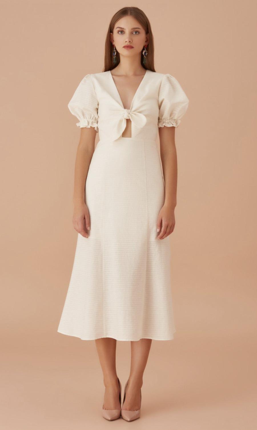 下一站的海島度假準備:象牙白洋裝(我已買了XD)