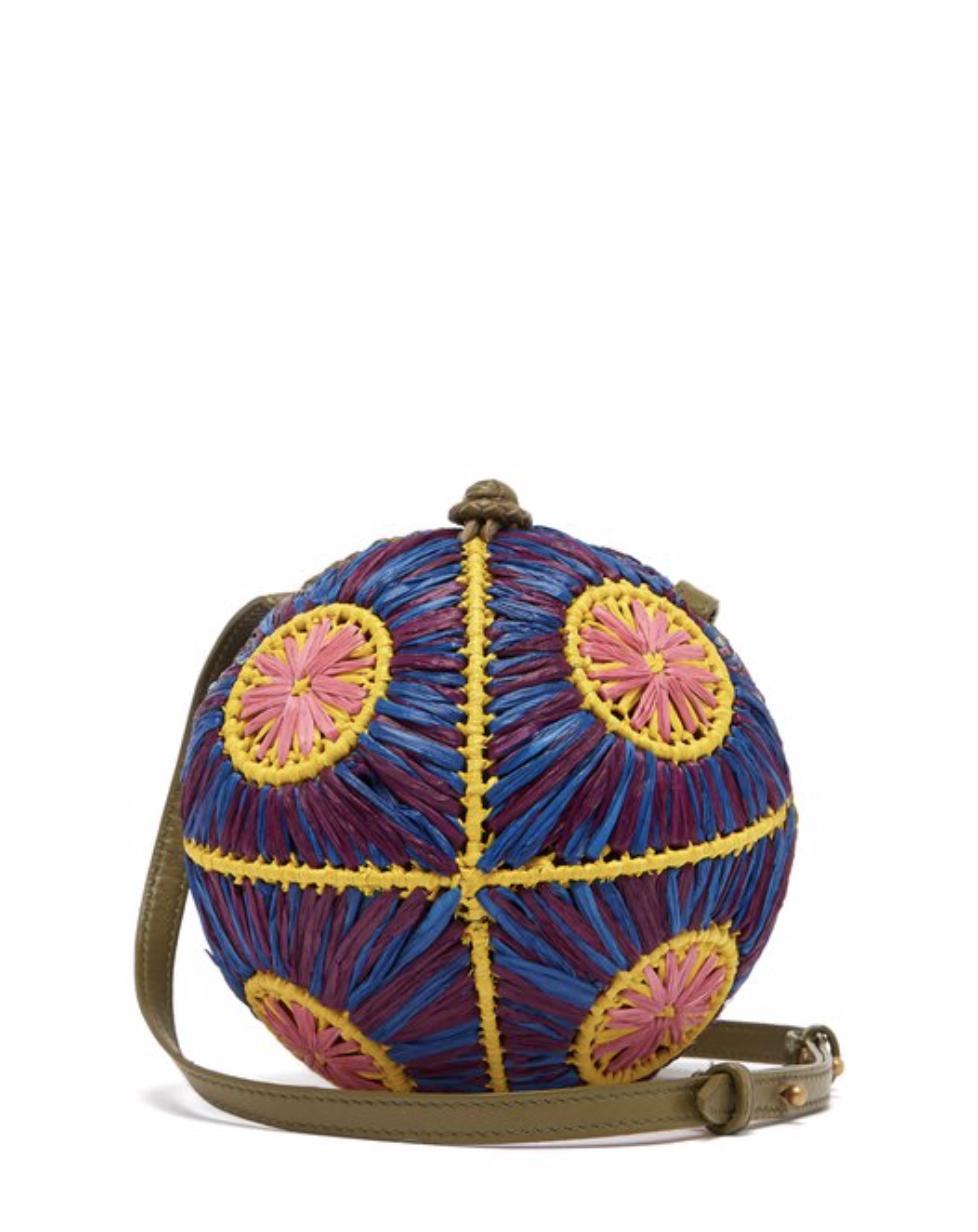 三折中:藤編圓球編織包