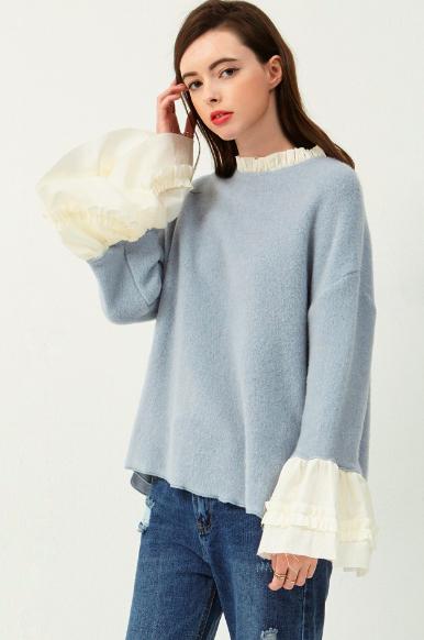 我也有買的藍色毛衣