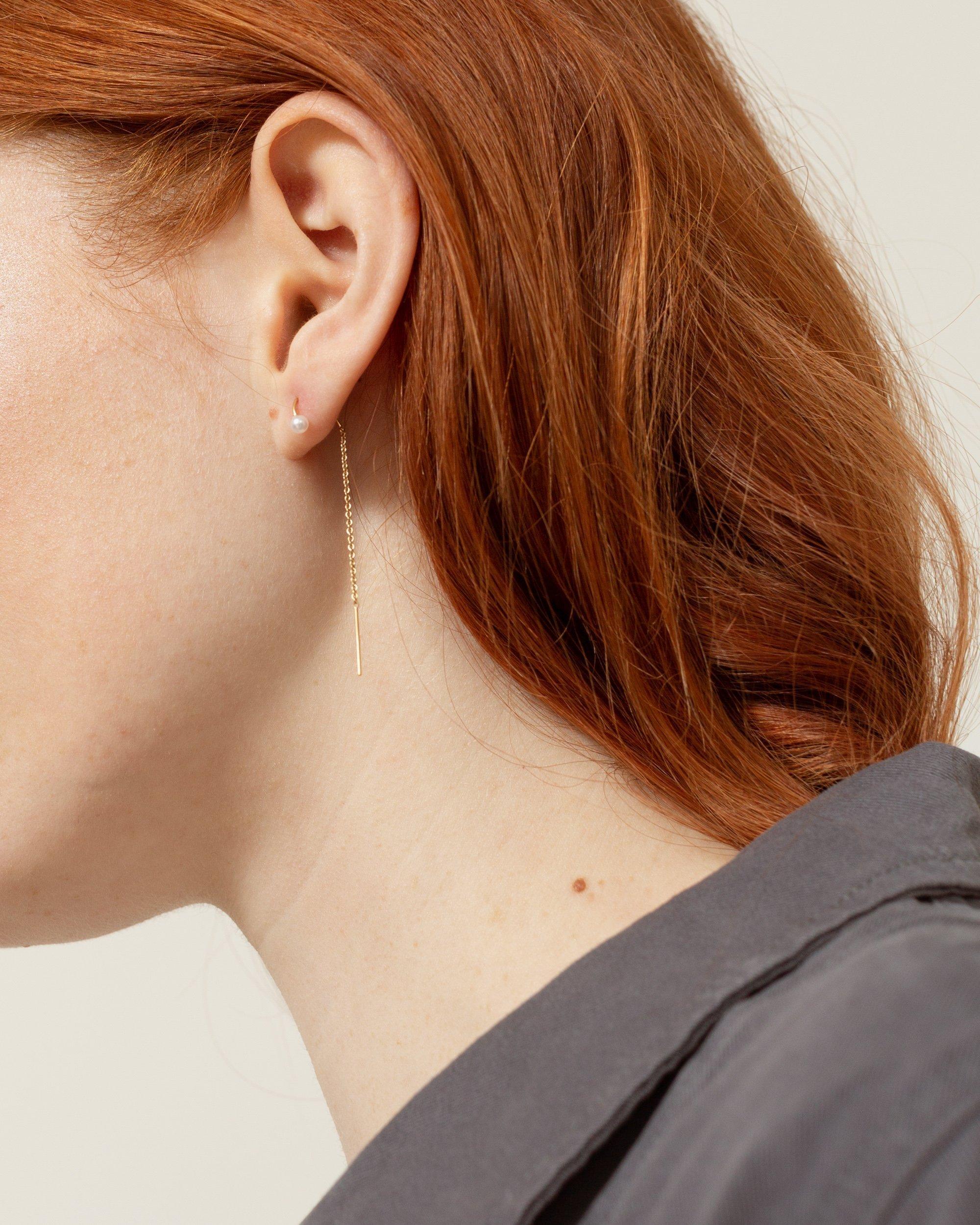 簡單優雅的細鏈耳環