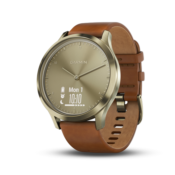 GARMIN:vívomove™ HR智慧型手錶(典雅復古金)