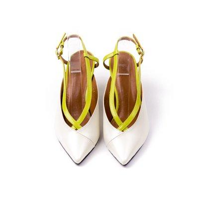 S&T STUDIO:CHLOE 跳色交叉條帶跟鞋