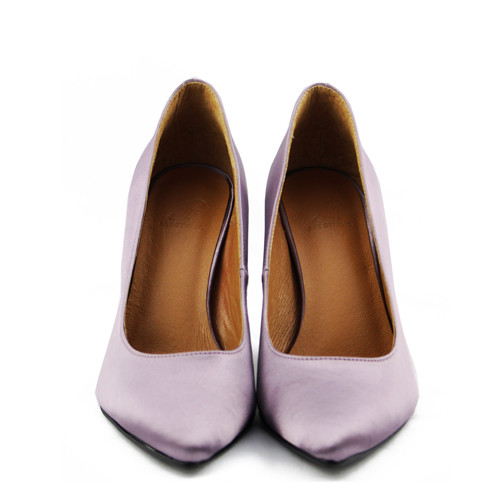Michelle 緞面高跟鞋