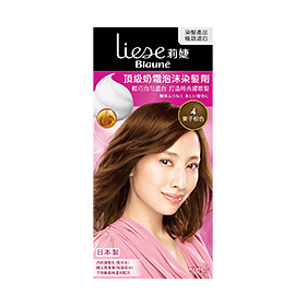莉婕:頂級奶霜泡沫染髮劑(栗子棕色)