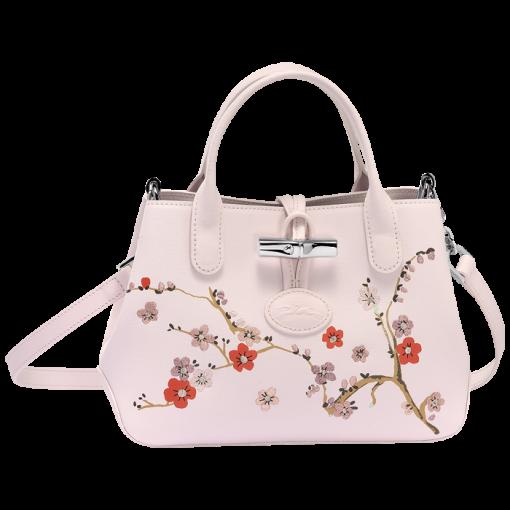Longchamp Roseau Sakura系列肩背包