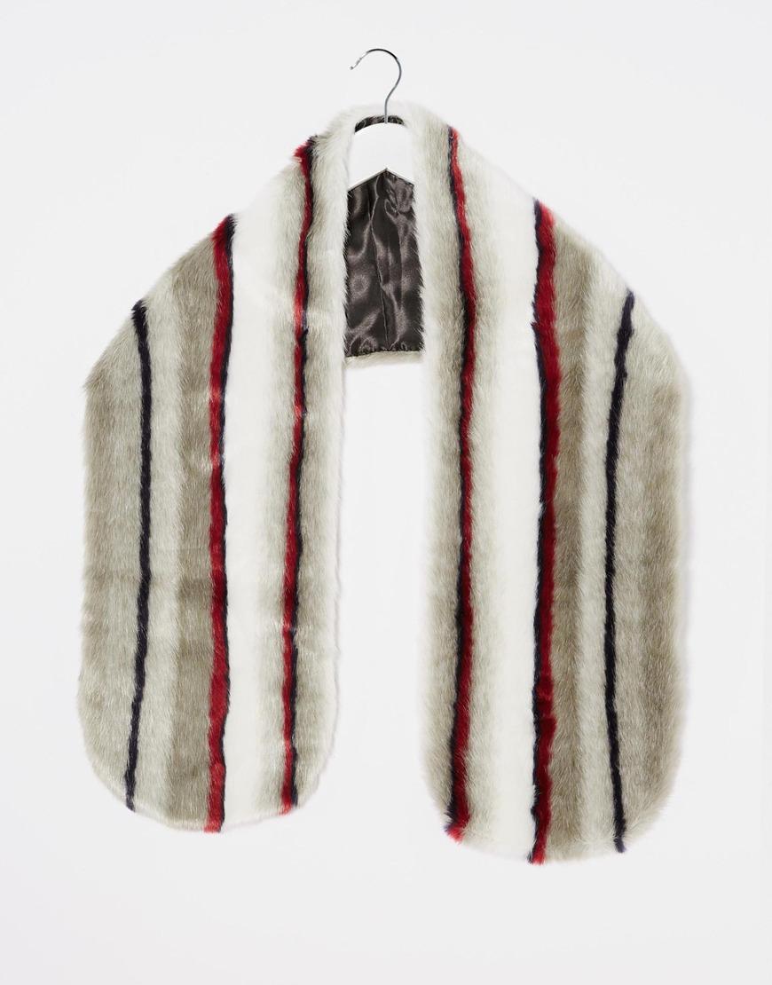 溫暖彩色圍巾