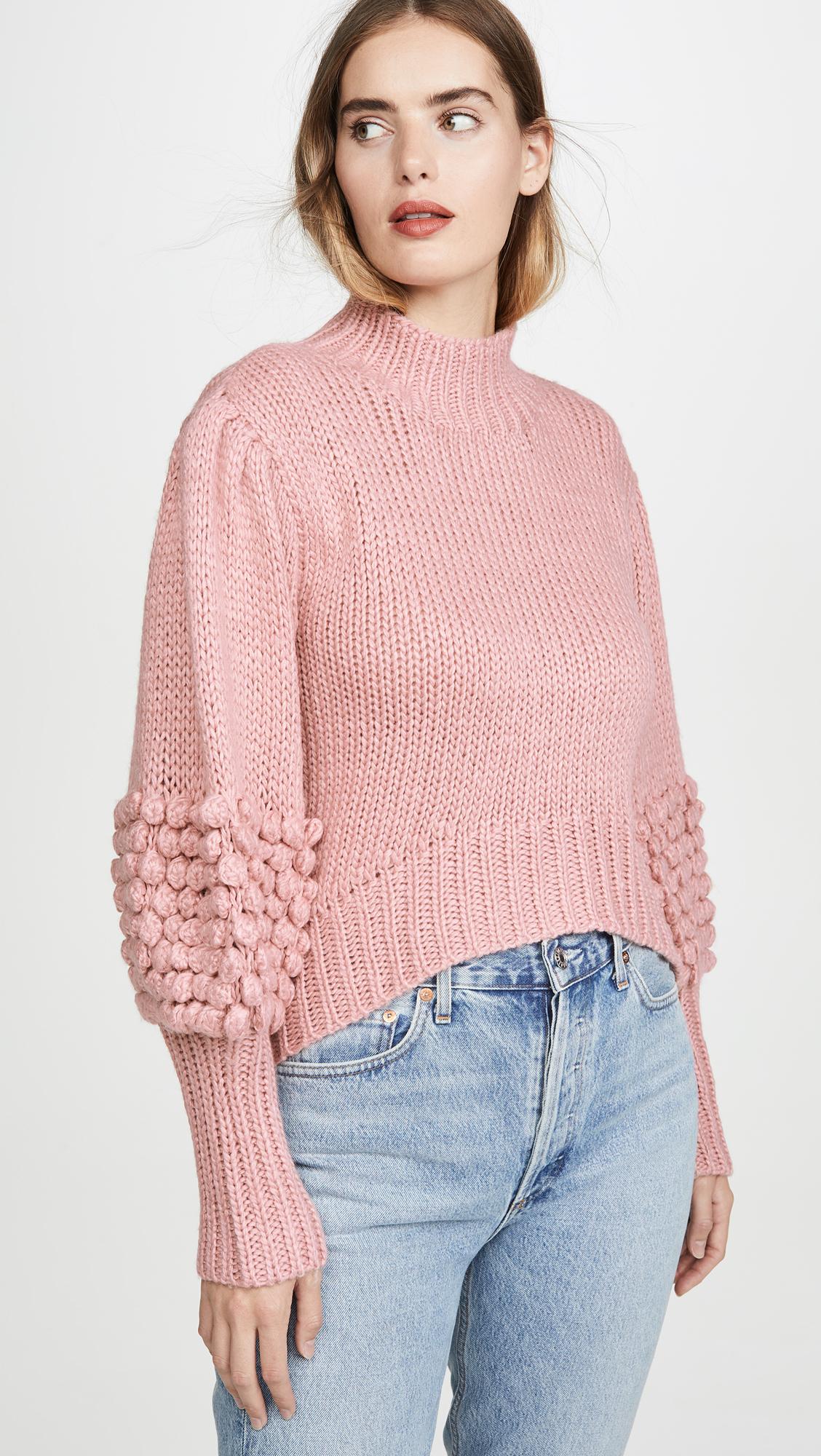 粉粉高好感度的針織毛衣